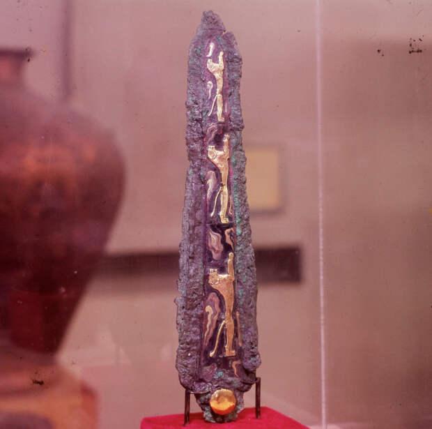 Бронза, инкрустированная золотом, серебром, электрумом, чернью. Конец XVI в. до н.э.