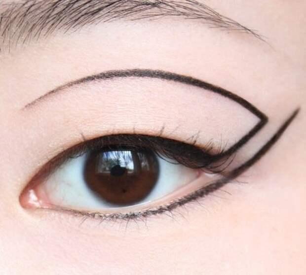 какие стрелки на глазах нарисовать необычно