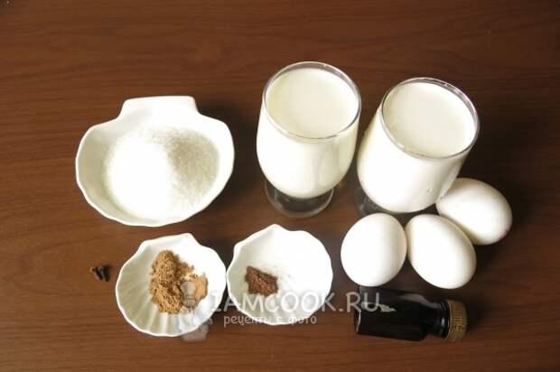 Ингредиенты для безалкогольного егг-ног