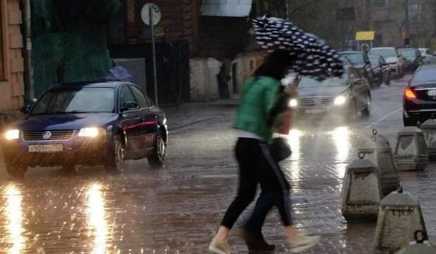В Москве ожидается гроза, град и ветер с порывами до 17 м/с