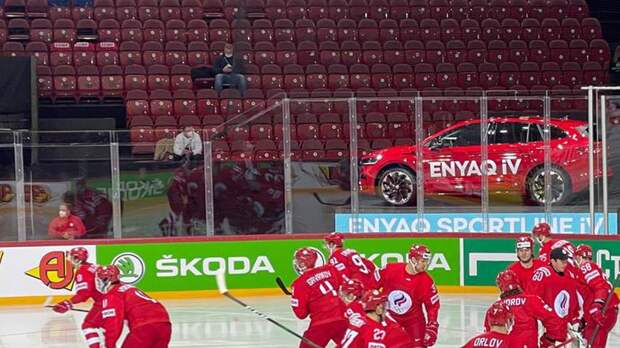 На матч ЧМ между Россией и Белоруссией пришел лишь один болельщик