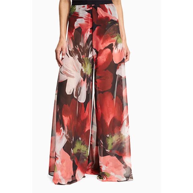 Carmen Marc Valvo Peony Printed Palazzo Coverup Pants Что носить в жару, или <br> 8 вещей для лета в городе