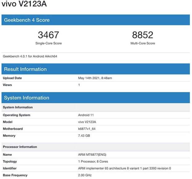 Vivo вскоре выпустит смартфон на новой платформе Dimensity 900