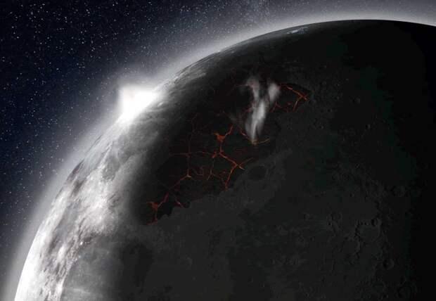 У Луны миллиарды лет существовала своя атмосфера