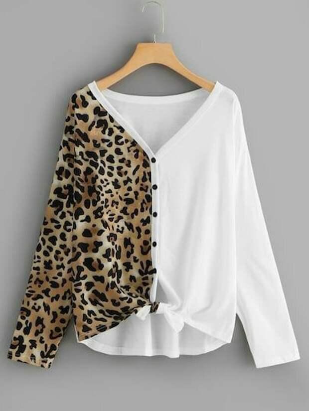 Двухцветная блузка