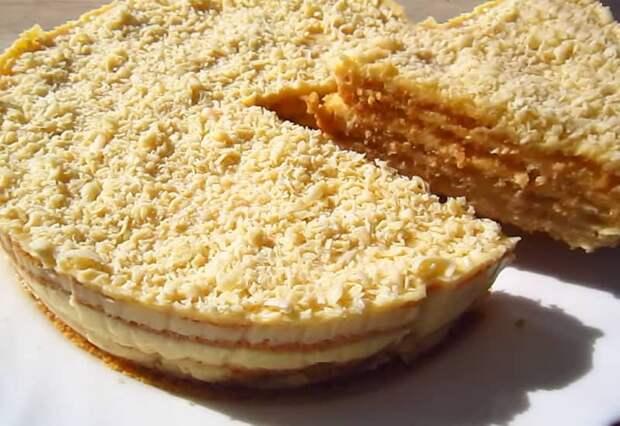 Торт со вкусом пломбира