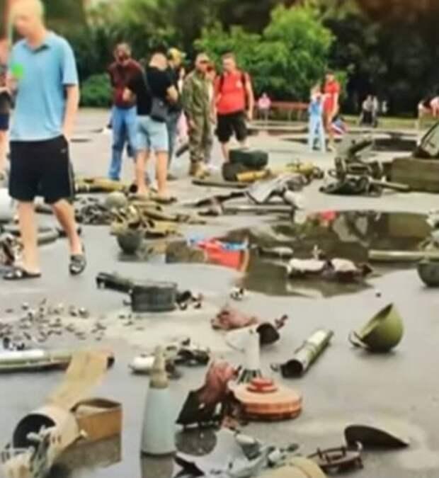 Трупы на день украинской оккупации Славянска