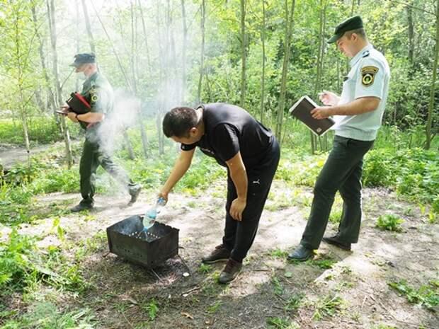 Полиция разогнала всех шашлычников в Долине реки Сходни в Куркине