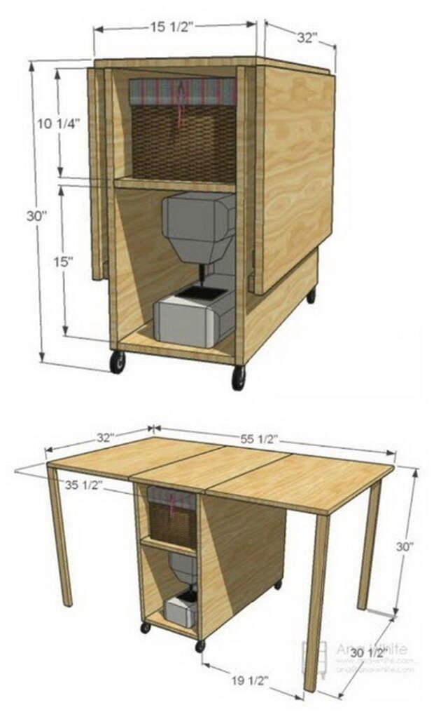 Швейные столы своими руками - идеи и чертежи
