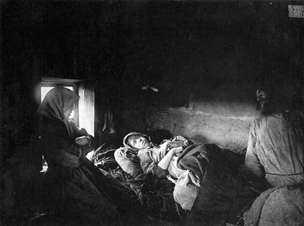 Больные тифом в городе Княгинине. 1891-1892 гг. История в фотографиях, россия