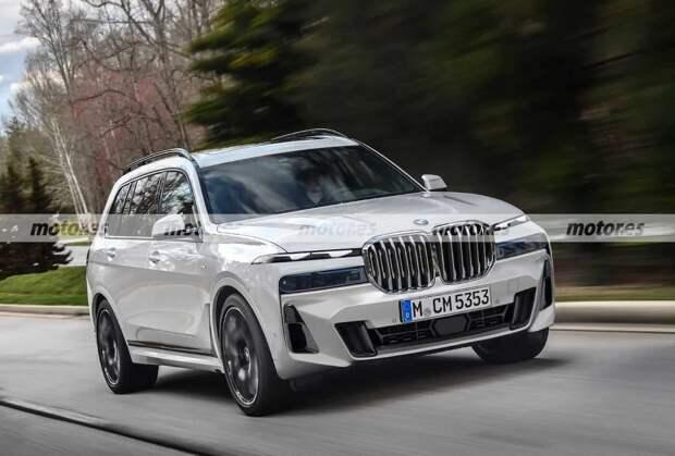 Новый BMW X7: опубликовано первое рендерное изображение