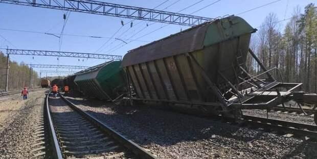 На участке, где с рельс сошли 14 вагонов, открыли движение для пассажирских поездов