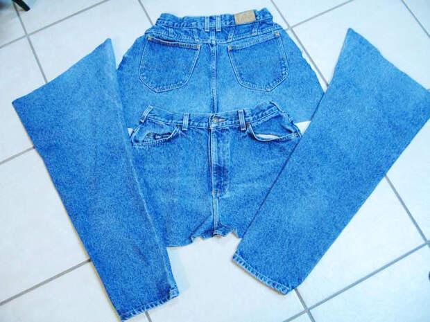 Как из одной пары джинс сшить четыре фартука