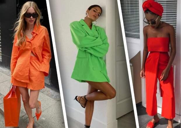 Акцент на цвет: Как носить монохромные образы этим летом