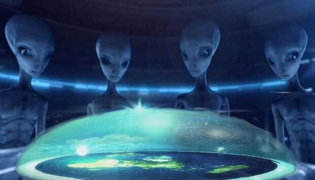 """Заглядывают ли к нам """"марсиане"""" сквозь купол Плоской Земли?"""