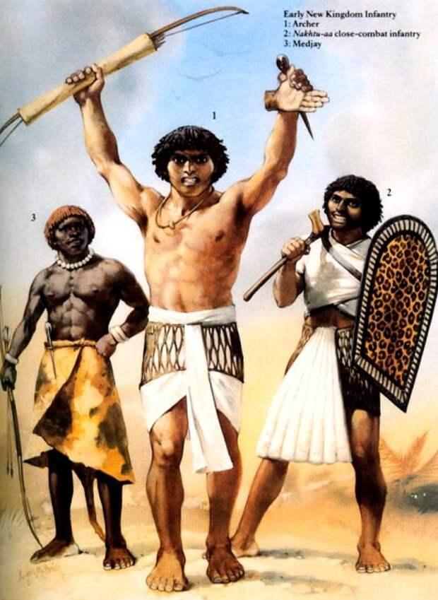 Египетские воины Нового Царства