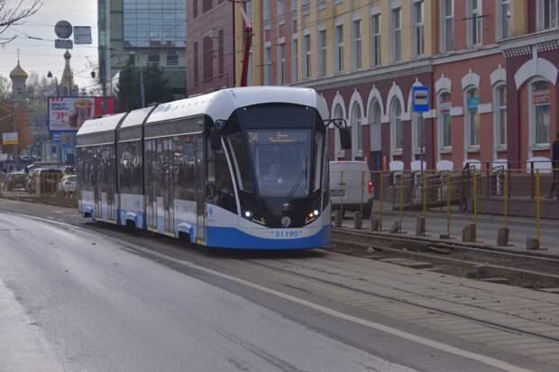 Ремонт трамвайных путей в Строгине продлится до июля 2021 года