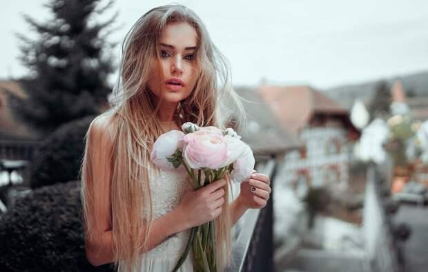 Обои Sexy, Girl, Zurich, Flowers, Gorokhov, Model, Masha картинки ...