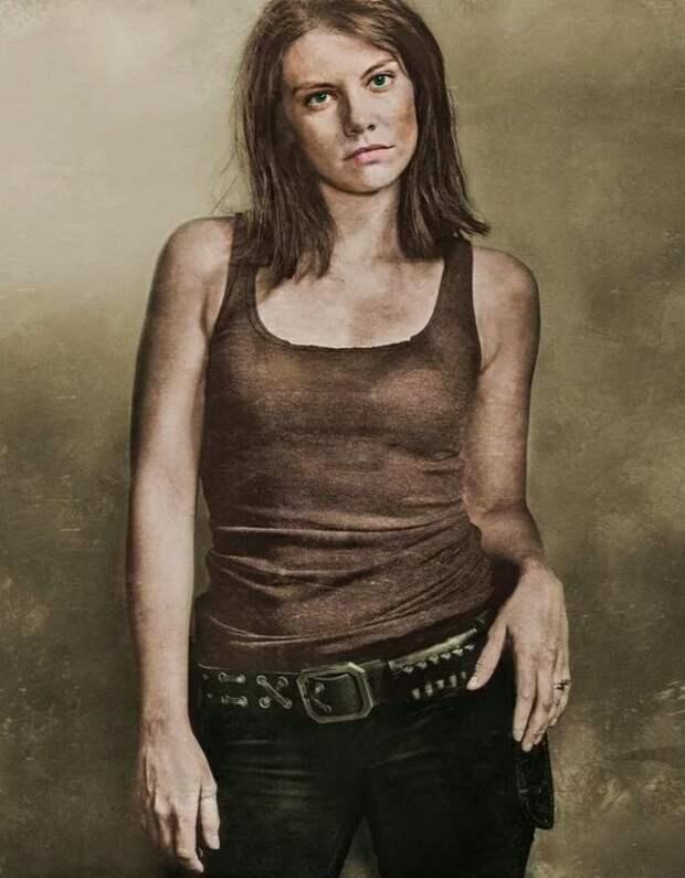 Соблазнительная истребительница ходячих мертвецов, актриса Лорен Коэн, во всей своей красе.