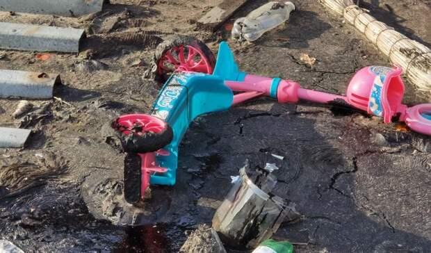 Пока власти Тюмени играют сгорожанами в«футбол», битум лезет из-под земли