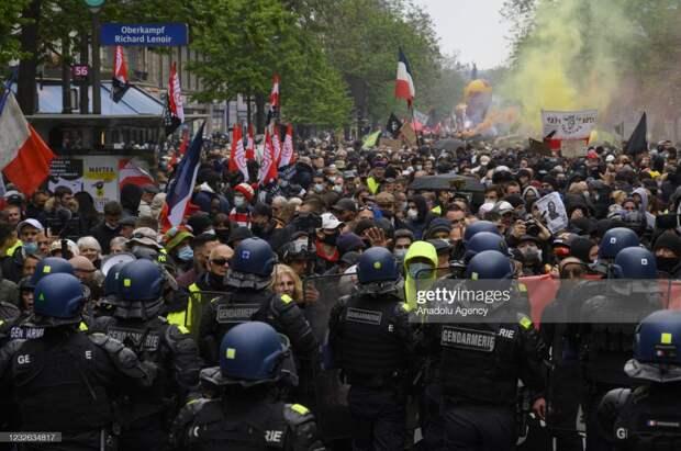 Как прошёл Первомай в Европе в 2021 году.