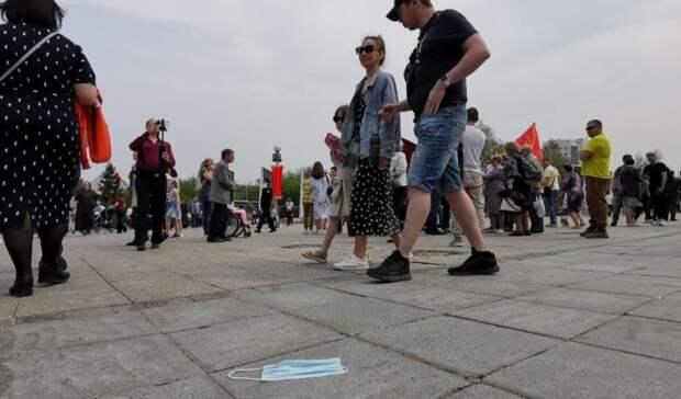 Фоторепортаж с плац-парада на площади Памяти