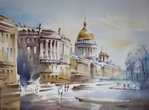 художник Константин Кузема акварель картины - 20