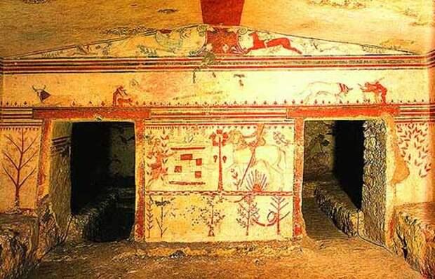Фрески этрусских гробниц