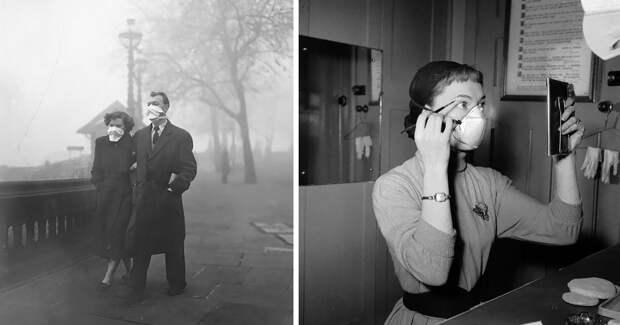 Как лондонцы спомощью масок спасались отВеликого смога в1950-х