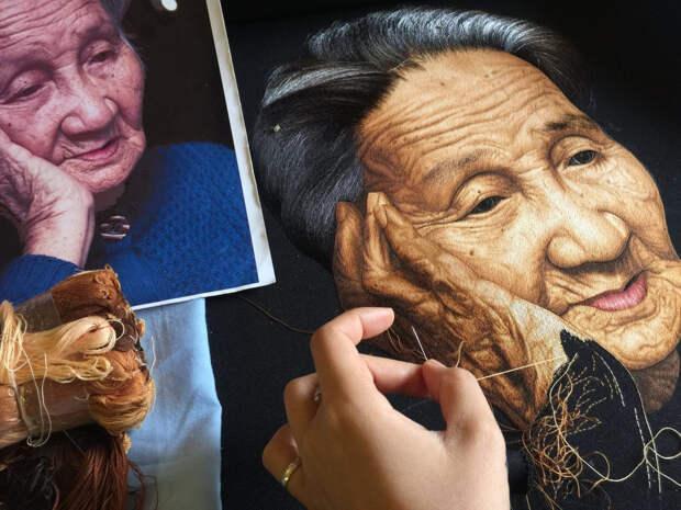Вьетнамская студия XQ Dalat вручную вышивает шелком гиперреалистичные картины
