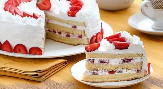 Пирог на кефире Сама нежность