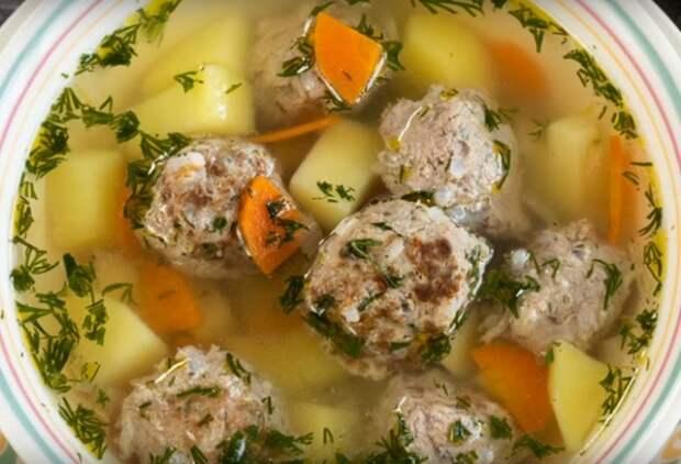 Суп с фрикадельками-просто, быстро, вкусно