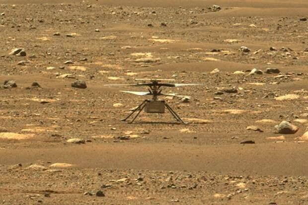 Беспилотный вертолет NASA успешно совершил первый испытательный полет на Марсе