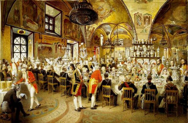 Русское застолье: как пировал высший свет