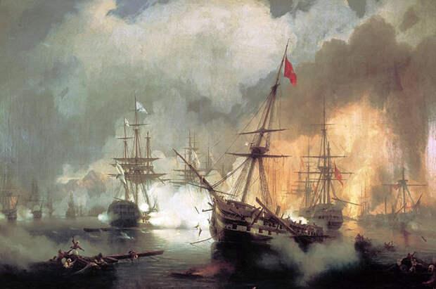 Наваринский бой. И.К. Айвазовский. (1846)