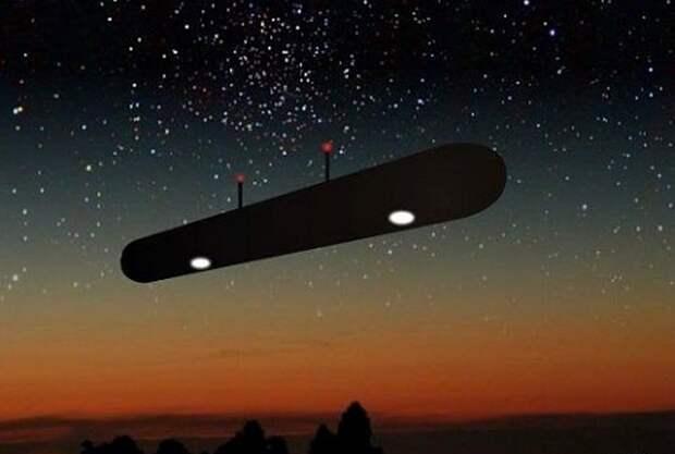 Неопознанные объекты в небе сигарообразной формы