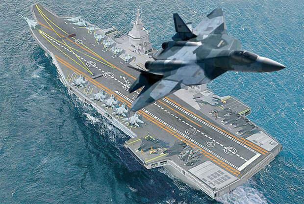 ОАК готова разработать новый палубный истребитель для перспективного авианосца