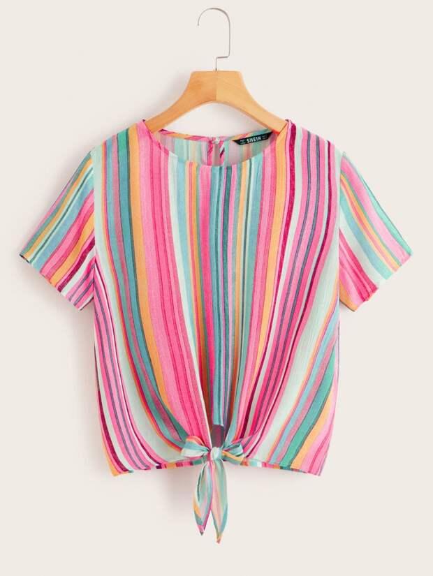 Летняя блузка с завязками