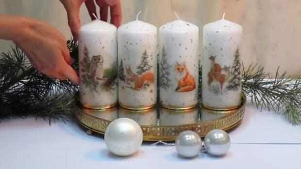Такой простой и такой удачный новогодний подарок из свечи