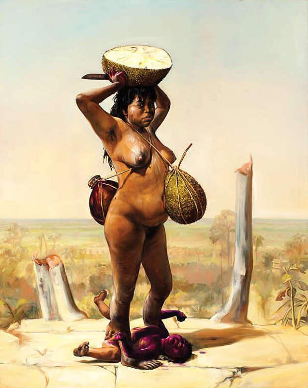 Обнаженная натура в изобразительном искусстве разных стран. Часть 151.