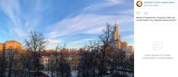 Фото дня: ясное небо над Соколом