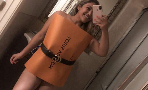 Новая мода на пакеты вместо одежды