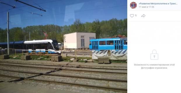 Трамваи вернулись на круг в районе улицы Твардовского