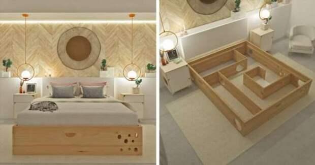 Кровать с лабиринтом для кошки