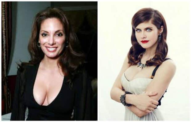 Размер D. Уже весьма прилично - Алекс Менесес и Александра Даддарио  белые, грудь. размер, женщины