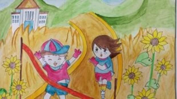 Дети шымкентских полицейских нарисовали «Мир без войны»