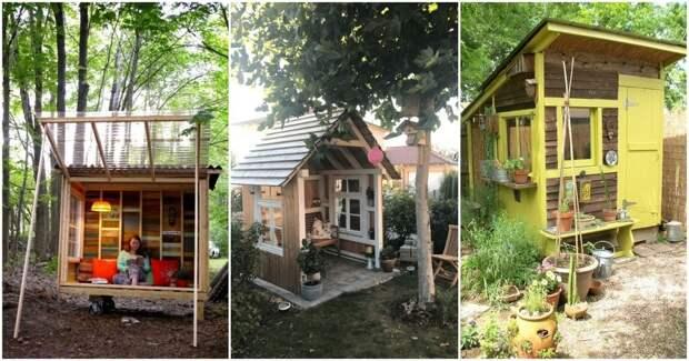 Уютные садовые домики и островки для дачного участка