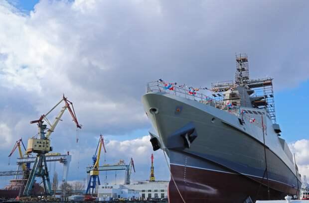 В Керчи спустили на воду новый патрульный корабль «Сергей Котов»