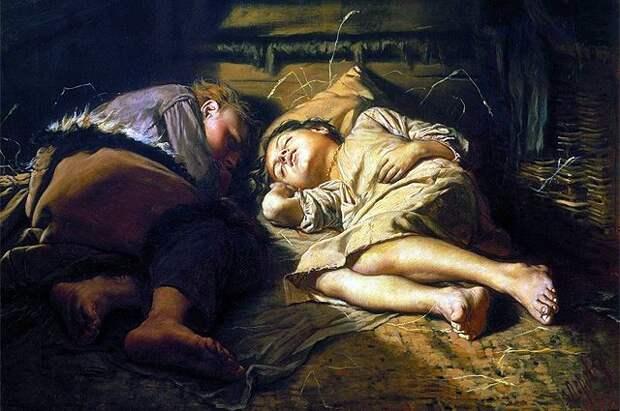 """В.Перов """"Спящие дети"""""""