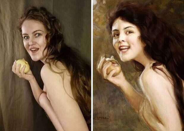 """15. Тадеуш Стыка """"Девушка с яблоком"""" (1900)"""